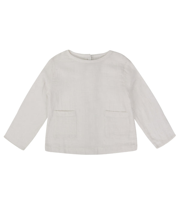St Ives Top - white muslin