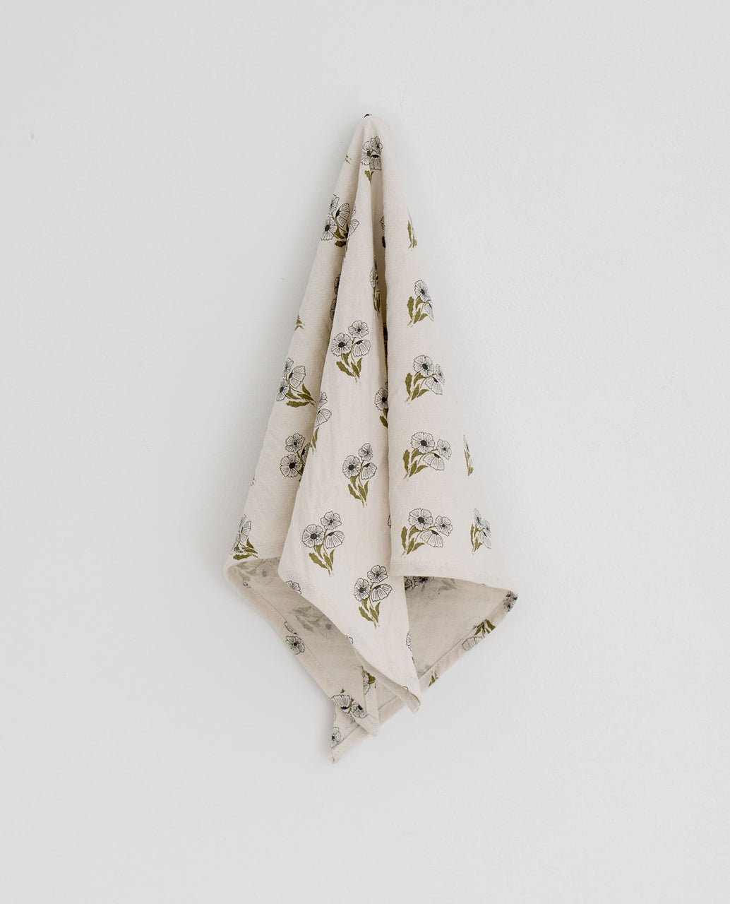 Triangle scarf -  poppy floral