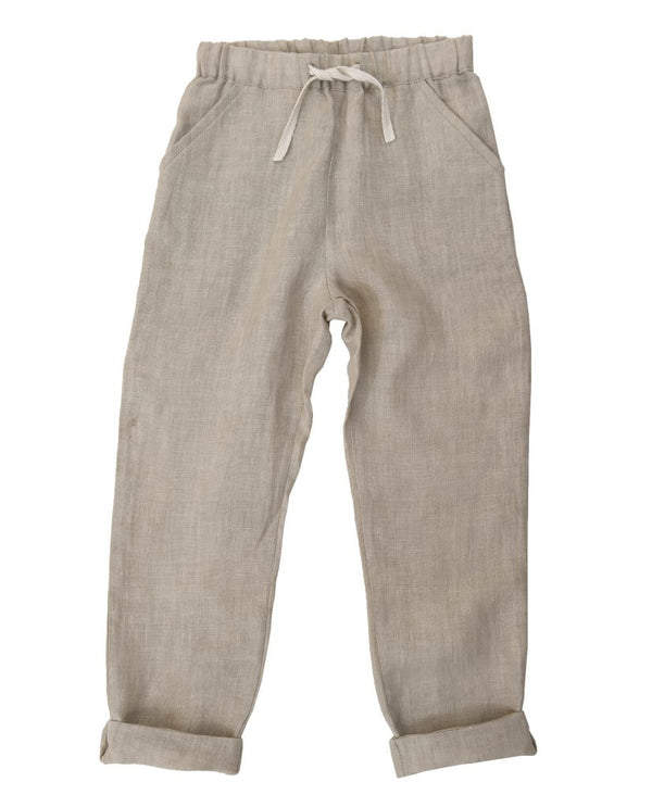 Tenby Trousers - natural linen
