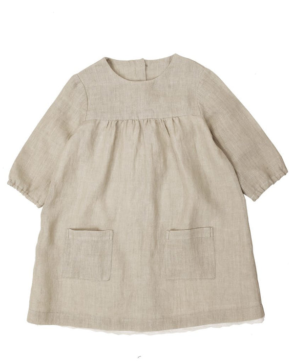 Delsey Dress - natural linen