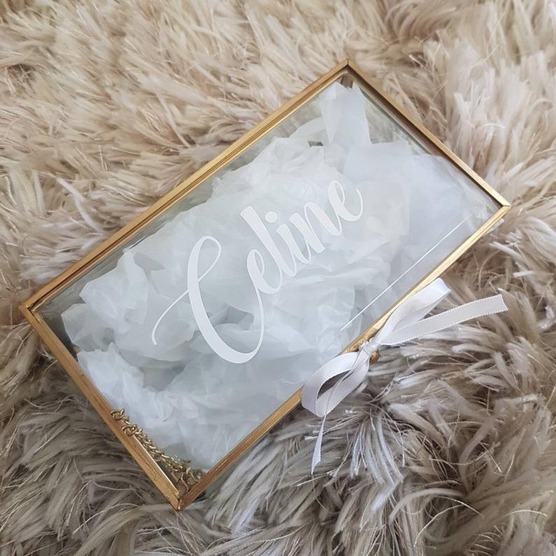 Personalised Glass Gift Box