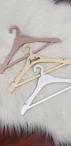 Acrylic Personalised Child Coat Hanger