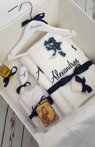 Orthodox Personalised Standard Christening Package (Choose your colours & size box)