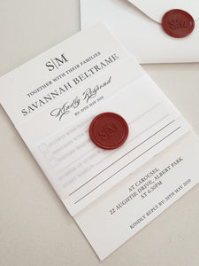 Savannah & Matthew Invitation - Letterpress