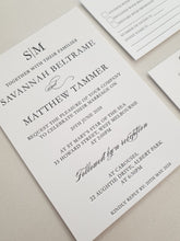 Load image into Gallery viewer, Savannah & Matthew Invitation - Letterpress