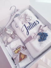 Load image into Gallery viewer, Orthodox Personalised Deluxe Christening Package (Choose your colours & size box)