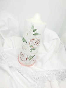 """Ava"" Baptism Christening Candle (Choose your colours)"