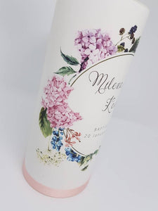 """Milena"" Baptism Christening Candle (Choose your colours)"