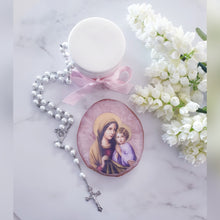 Load image into Gallery viewer, Religious Agate Look Coaster Plaques