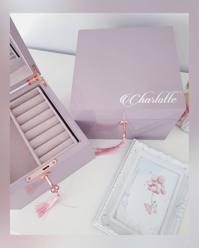 Personalised Jewellery Box - Lilac