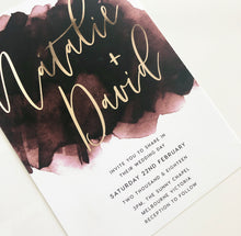 Load image into Gallery viewer, Natalie & David Invitation