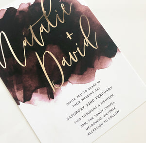 Natalie & David Invitation