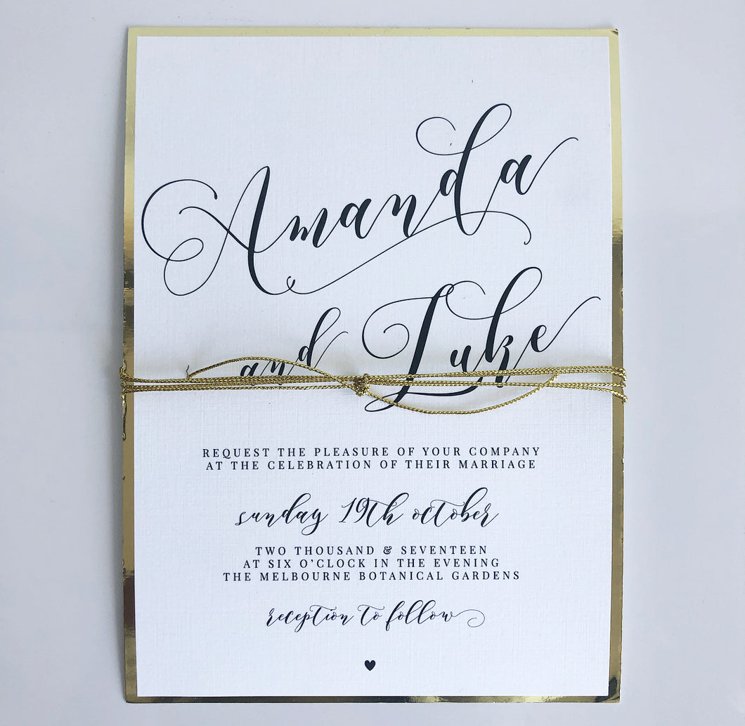 Amanda & Luke Invitation