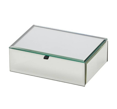 Glass Mirrored Personalised Jewellery Box