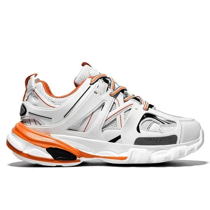 LACERATOR Deconstructed Sneakers - White/Orange