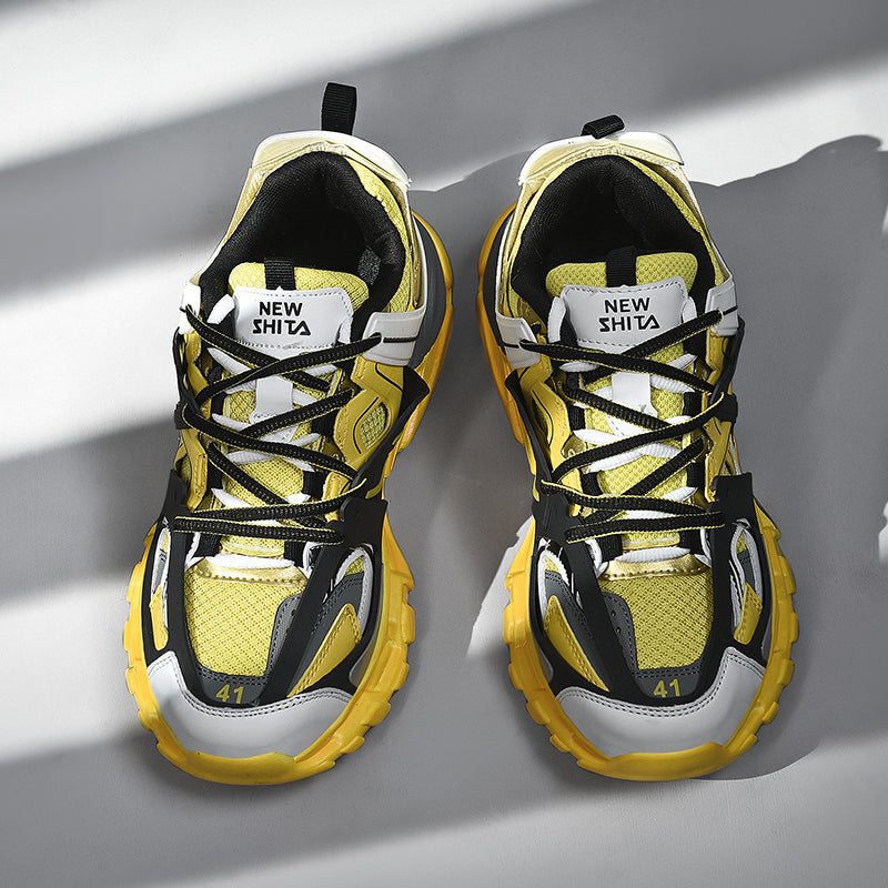 LACERATOR Deconstructed Sneakers - Yellow