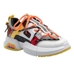 PLUTO Lace Up Chunky Sneakers Women - Goldenrod Yellow
