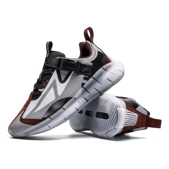 KRONOS 'Alien Assassin' Sneakers Steel Grey/Black/Rustic Brown