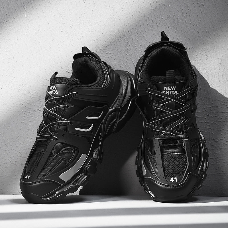LACERATOR Deconstructed Sneakers - Triple Black