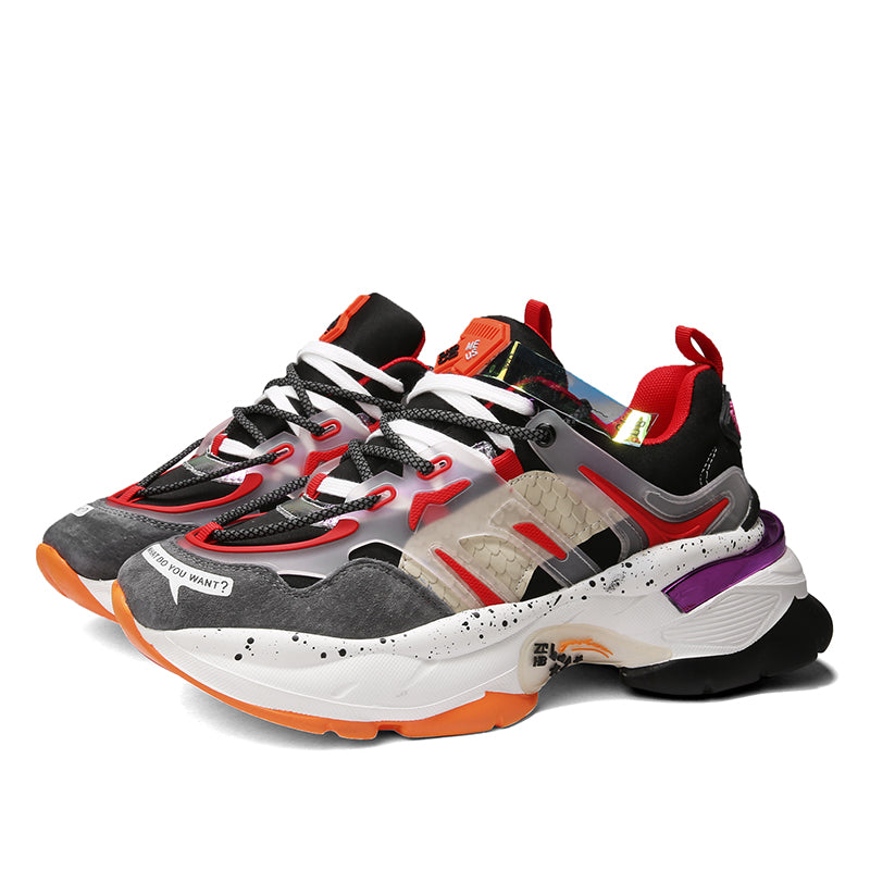 CENTAURUS Color Block Double Laces Dad Shoes