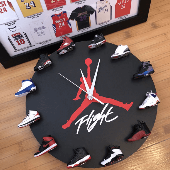 3D Sneaker Clock with 12 Mini Sneakers