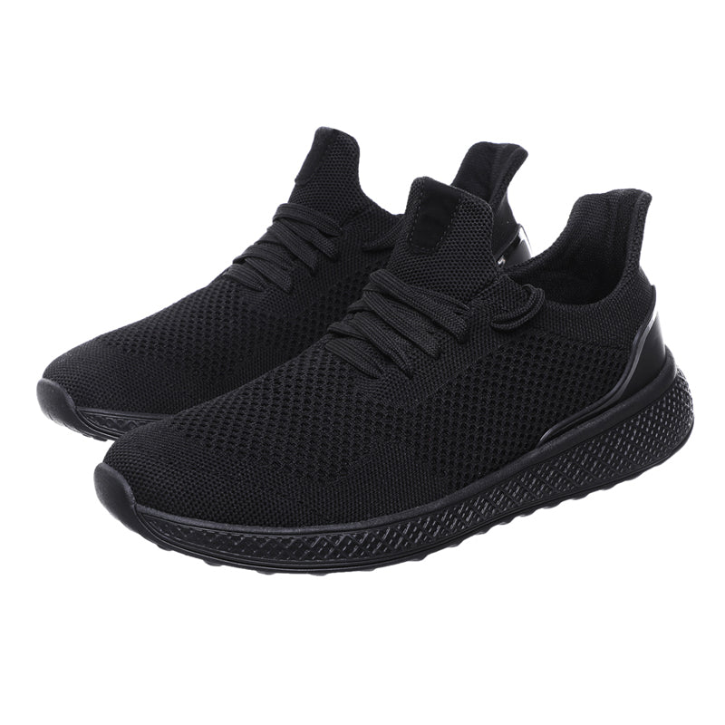 STRIDE Lace Up Solid Mesh Runner Sneakers
