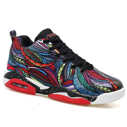 Retro Artwork Sneakers PU Waterproof Big Size 47
