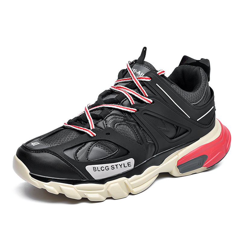 LACERATOR Deconstructed Sneakers - Black/Red