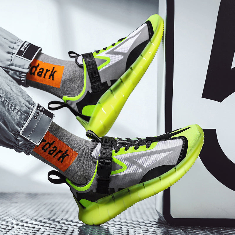 KRONOS 'Alien Assassin' Sneakers Neon Green/Black/Gunsmoke