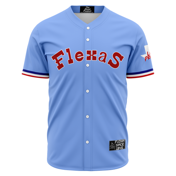 Flexas Baseball Jersey - Retro Blue