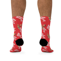 Ladies Love Locals Socks - Red