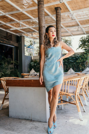 Slip Dress - ice blue