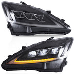 VLAND HEADLIGHT ASSEMBLY FIT FOR Lexus 2006-2013 IS250/350 Sedan 2010-2015 C/ C F Conv 2008-2014 IS F, Two Colors - VLAND