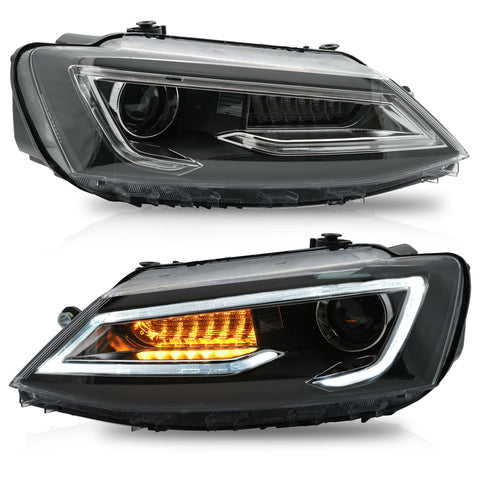 VLAND HEADLIGHT ASSEMBLY FIT FOR 2011-2017 Volkswagen JETTA MK6