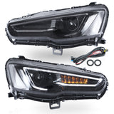VLAND HEADLIGHT ASSEMBLY FIT FOR 2008-2017 Mitsubishi Lancer , Two Colors - VLAND