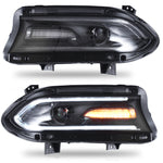 VLAND HEADLIGHT ASSEMBLY FIT FOR 2015-2020 Dodge Charger - VLAND
