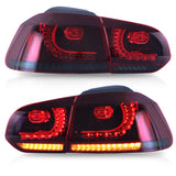 VLAND TAIL LIGHT ASSEMBLY FIT FOR Volkswagen VW 2010-2013 GOLF 6 MK6 GTI 2012-2013 Golf R , Two Colors - VLAND