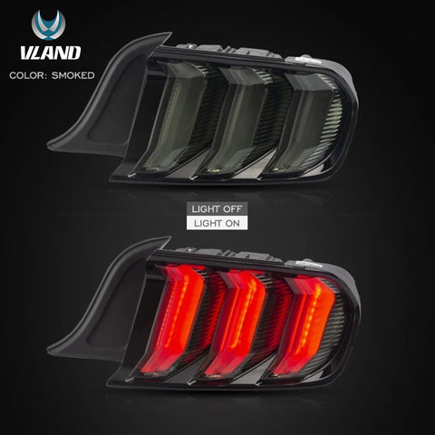 VLAND TAIL LIGHT ASSEMBLY FIT FOR 2015-2020 FORD Mustang , Two Colors,Two Types - VLAND
