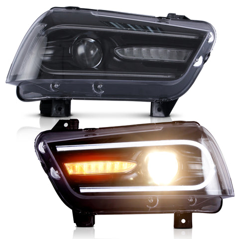 VLAND Headlight Assembly Fit for 2011-2014 Dodge Charger - VLAND
