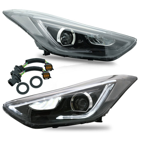 VLAND HEADLIGHT ASSEMBLY FIT FOR Hyundai 2011-2016 Elantra 2013-2014 Elantra Coupe