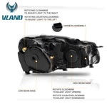VLAND HEADLIGHT ASSEMBLY FIT FOR 2010-2013 Volkswagen GOLF MK6 GTI / 2012-2013 GOLF R , Two Types - VLAND