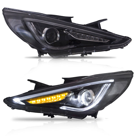 VLAND HEADLIGHT ASSEMBLY FIT FOR Hyundai Sonata 2011-2014 GLS Limited SE 2011-2015 Hybrid