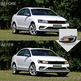 VLAND HEADLIGHT ASSEMBLY FIT FOR 2011-2014 Volkswagen JETTA MK6 - VLAND