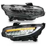VLAND HEADLIGHT ASSEMBLY FIT FOR 2016-2018 Honda Civic