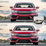 VLAND HEADLIGHT ASSEMBLY FIT FOR 2016-2018 Honda Civic - VLAND