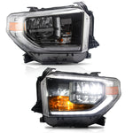 VLAND HEADLIGHT ASSEMBLY FIT FOR 2014-2015&2017-2020 Toyota Tundra, Two Colors - VLAND