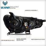 VLAND HEADLIGHT ASSEMBLY FIT FOR 2008-2017 Mitsubishi Lancer - VLAND