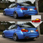 VLAND TAIL LIGHT ASSEMBLY FIT FOR 2012-2015 BMW 3 Series F30 F80 , Two Colors - VLAND