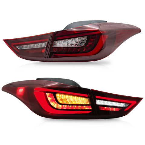 VLAND TAIL LIGHT ASSEMBLY FIT FOR Hyundai Elantra 2011-2016 Sedan 2013-2014 Coupe , Two Colors - VLAND