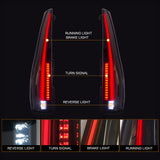 VLAND TAIL LIGHT ASSEMBLY FIT FOR 2007-2014 Cadillac Escalade / Escalade ESV , Two Colors - VLAND